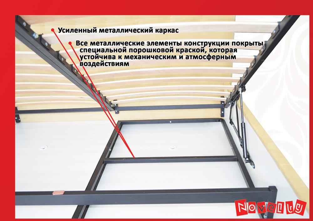 Фото 11 Кровать «Гера» 90*200 - SOFINO.UA
