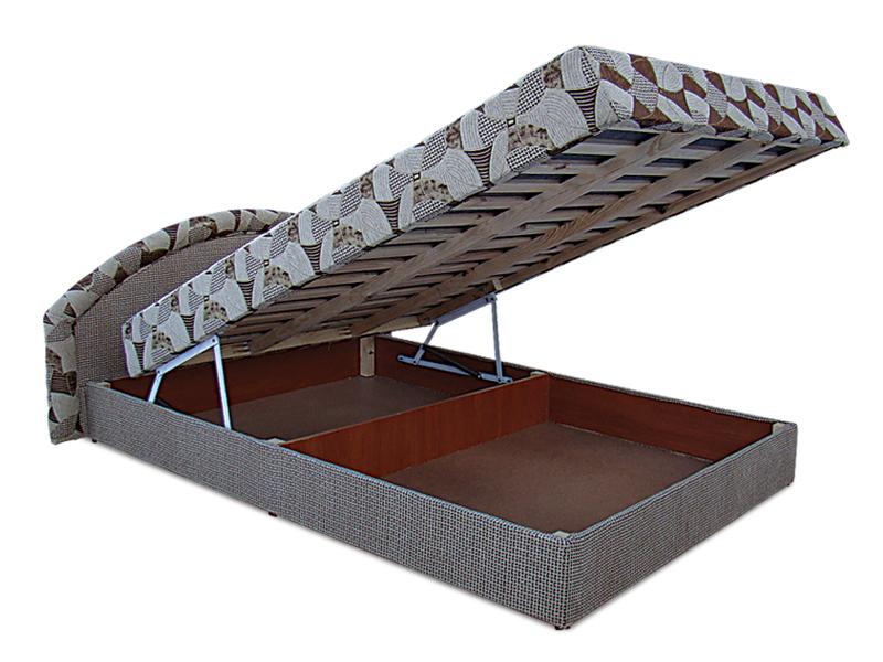 Фото Кровать-подиум «Ривьера» с матрасом | мебельная ткань 140*200 Віка Меблі - sofino.ua