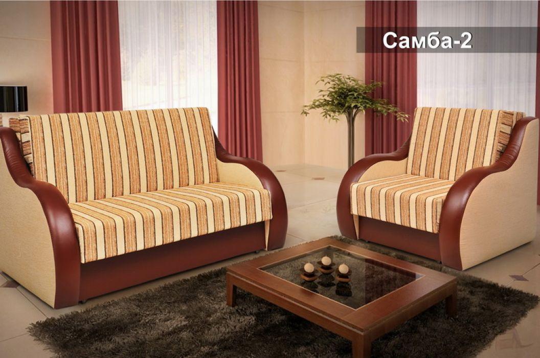 Фото Диван-кровать Мех. трансформ. Аккордеон Д/П «Самба-2» 135*184 Розпродажна позиція - SOFINO.UA