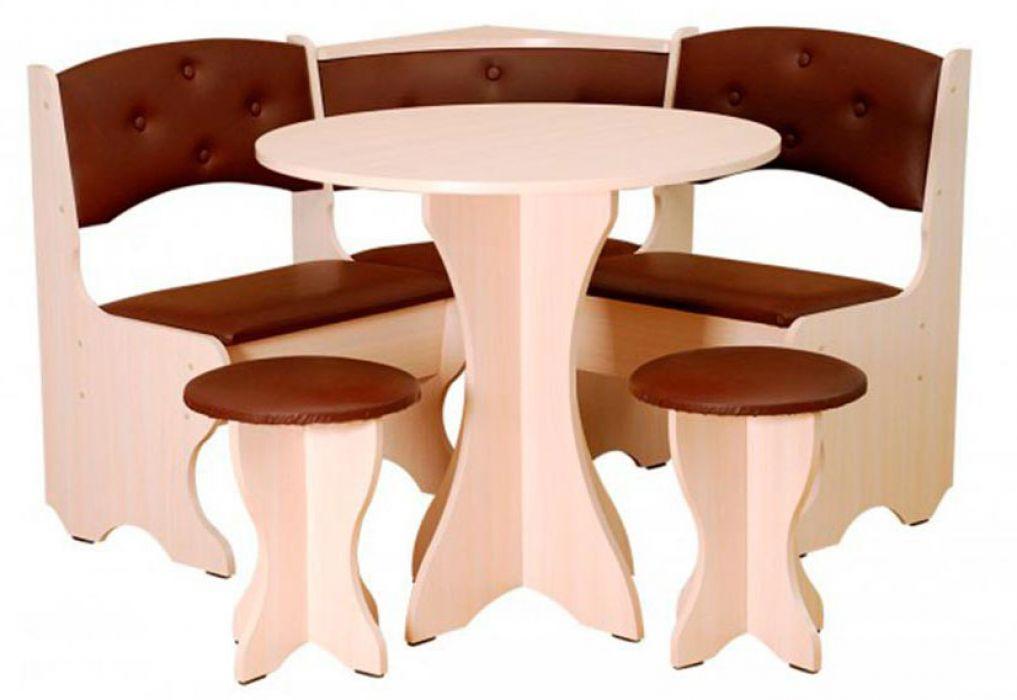 Фото 1 Кухонный уголок «Боярин» с табуретами и простым столом 80*80 | Код товара: 252768 - SOFINO.UA