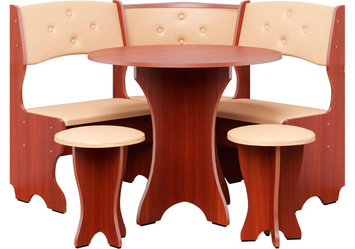 Фото Кухонный уголок «Боярин» с табуретами и простым столом 80*80 | Код товара: 252768 - SOFINO.UA