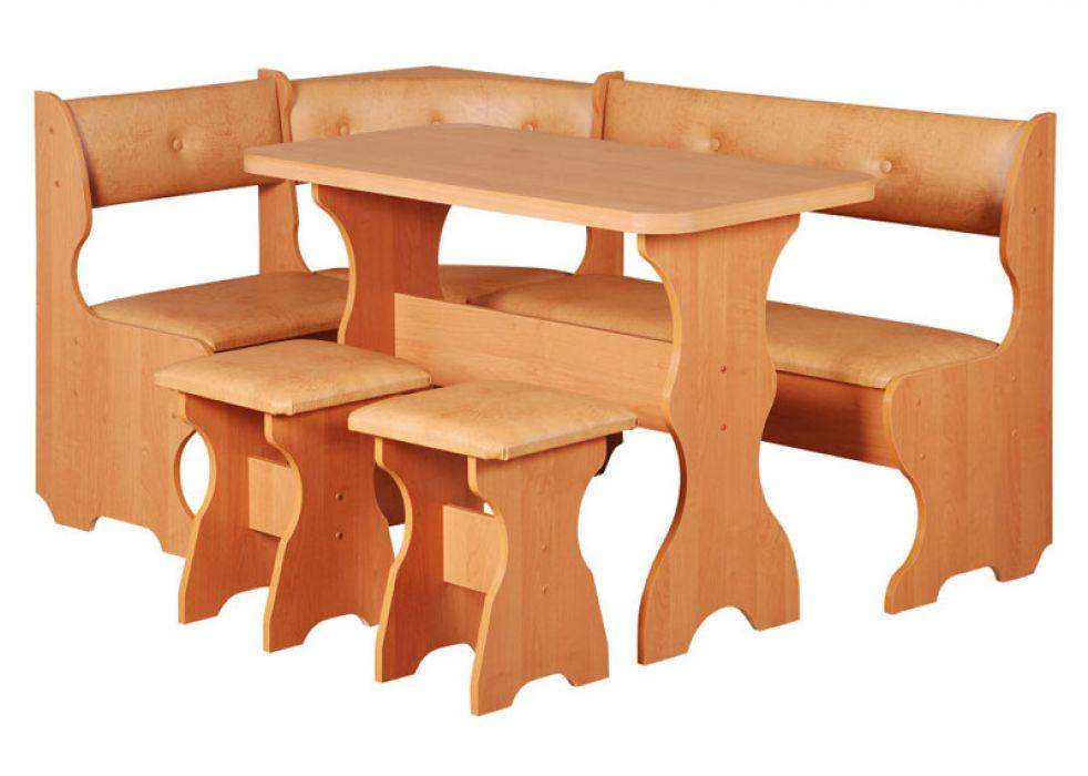 Фото Кухонный уголок «Принц» с табуретами и простым столом 100*60 Pehotin - sofino.ua