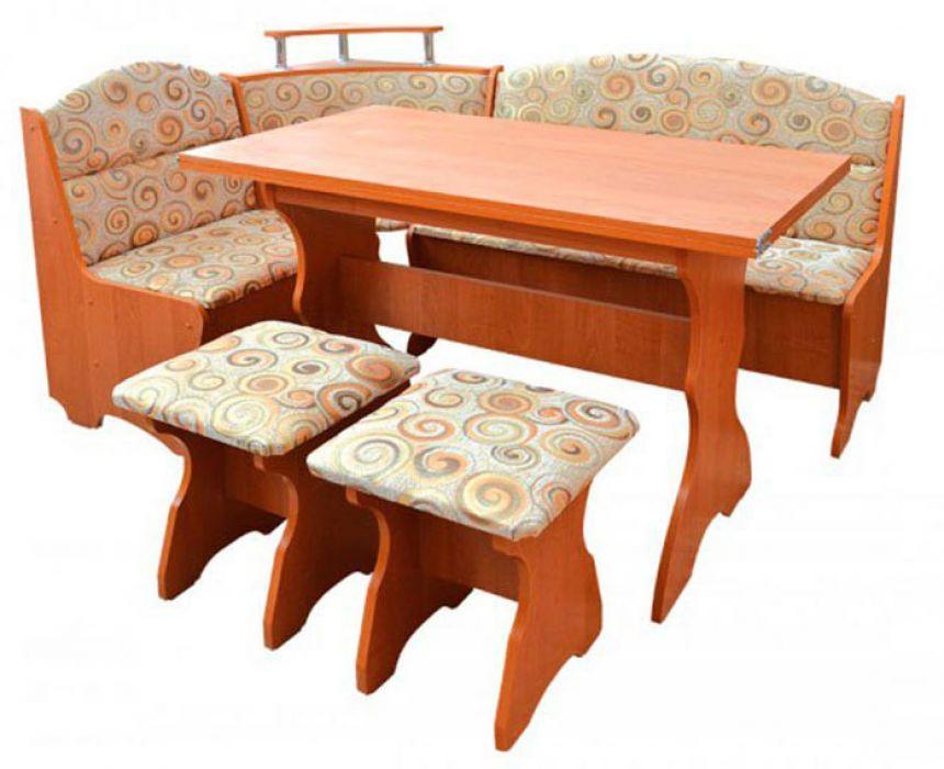 Фото Кухонный уголок «Сенатор» с табуретами и простым столом 100*60 Pehotin - SOFINO.UA