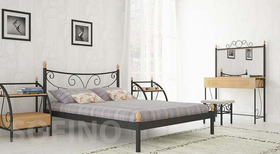 Фото Кровать «Луиза» 140*190 Металл - Дизайн - sofino.ua