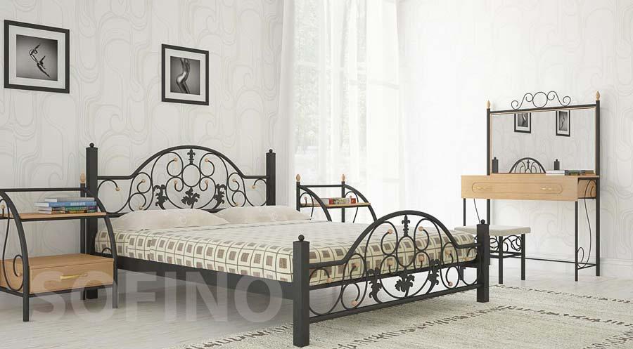 Фото Кровать «Жозефина» 140*190 Металл - Дизайн - sofino.ua
