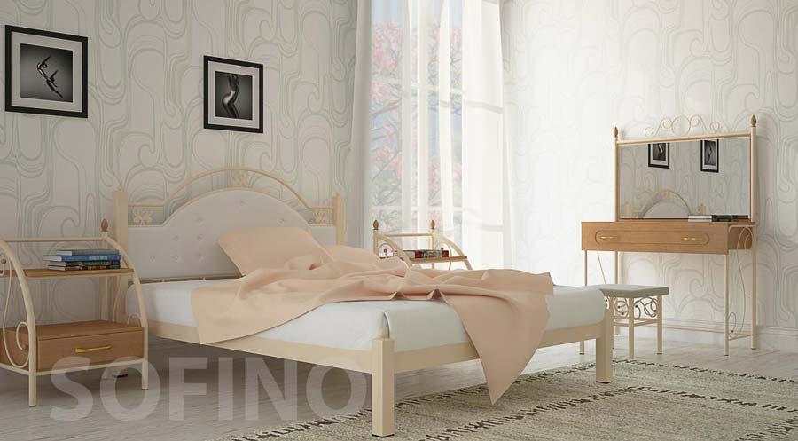 Фото Кровать «Эсмеральда» 140*190 Металл - Дизайн - sofino.ua