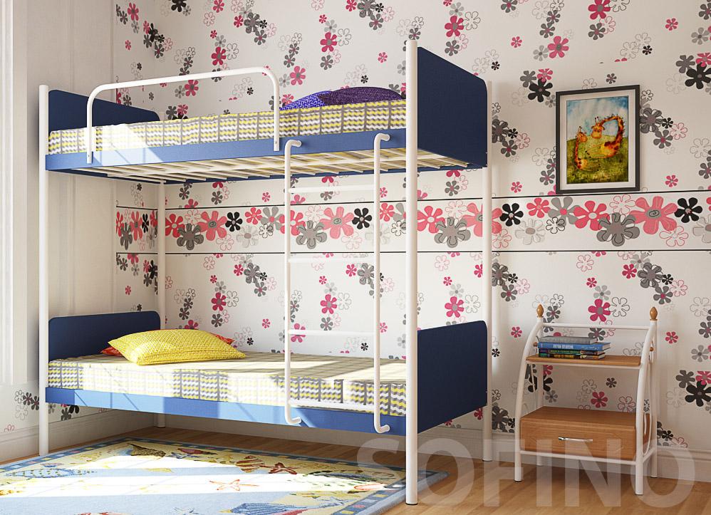 Фото Кровать «Арлекино» 80*190 Металл - Дизайн - sofino.ua