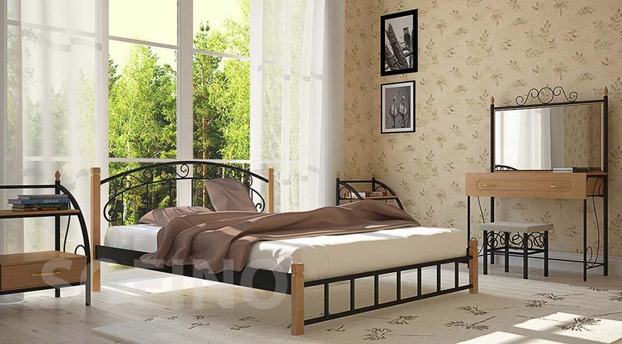 Фото Кровать «Афина» 140*190 Металл - Дизайн - sofino.ua