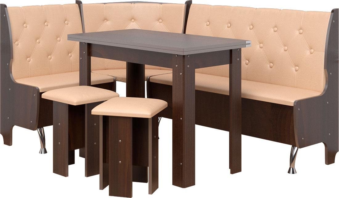 Фото Кухонный уголок «Адмирал»  с табуретами и простым столом 80*60 | Код товара: 282082 - SOFINO.UA