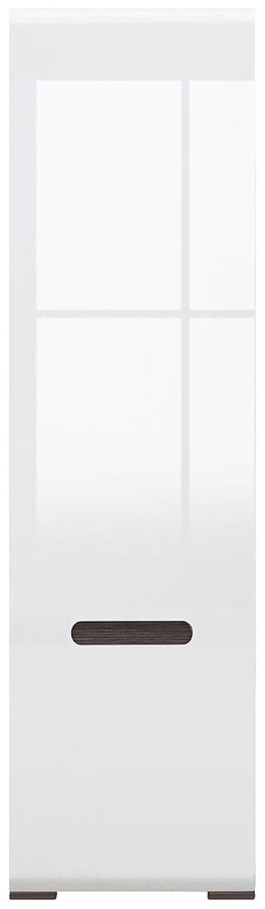 Шкаф платяной SZF1D/21/6 «Ацтека» | Нимфея Альба | Белый глянец
