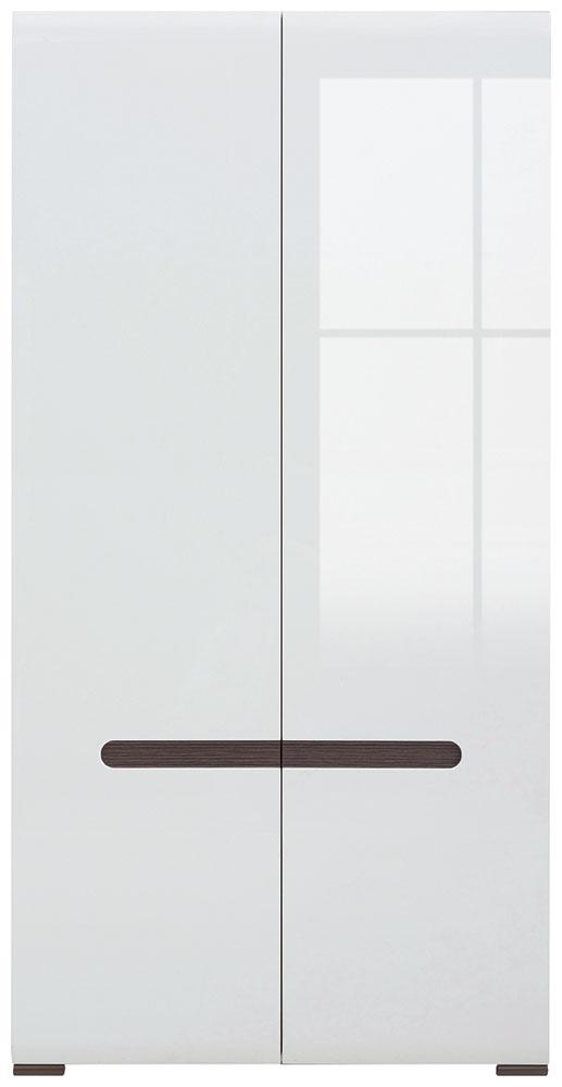 Шкаф платяной SZF2D/21/11 «Ацтека» | Нимфея Альба | Белый глянец