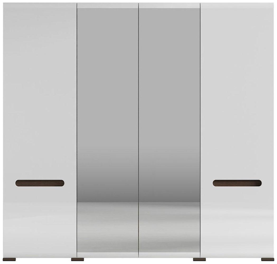 Шкаф платяной SZF2D2L/21/22 «Ацтека» | Нимфея Альба | Белый глянец