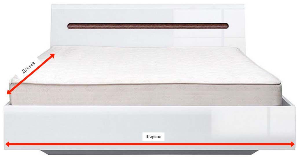 Фото 3 Кровать LOZ/160 «Ацтека» с подъемным механизмом | Нимфея Альба | Белый глянец | Код товара: 286974 - SOFINO.UA