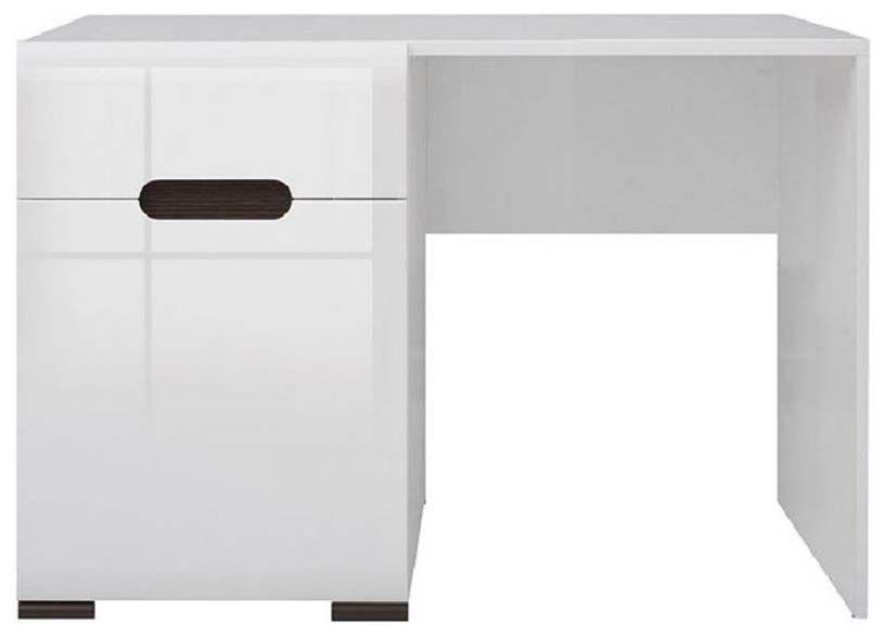 Стол туалетный TOL1D1S «Ацтека» | Нимфея Альба | Белый глянец