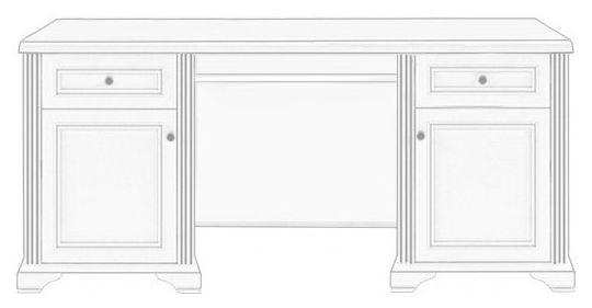 Стол письменный 170 «Вайт» | Сосна серебренная
