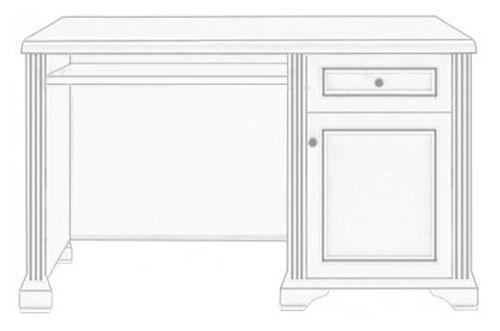 Стол письменный 130 «Вайт» | Сосна серебренная
