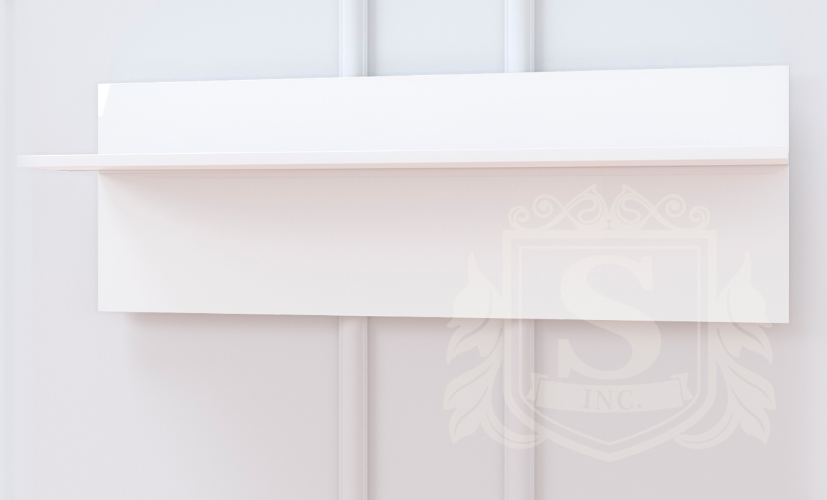 Полка «Бьянко» 105 белый глянец