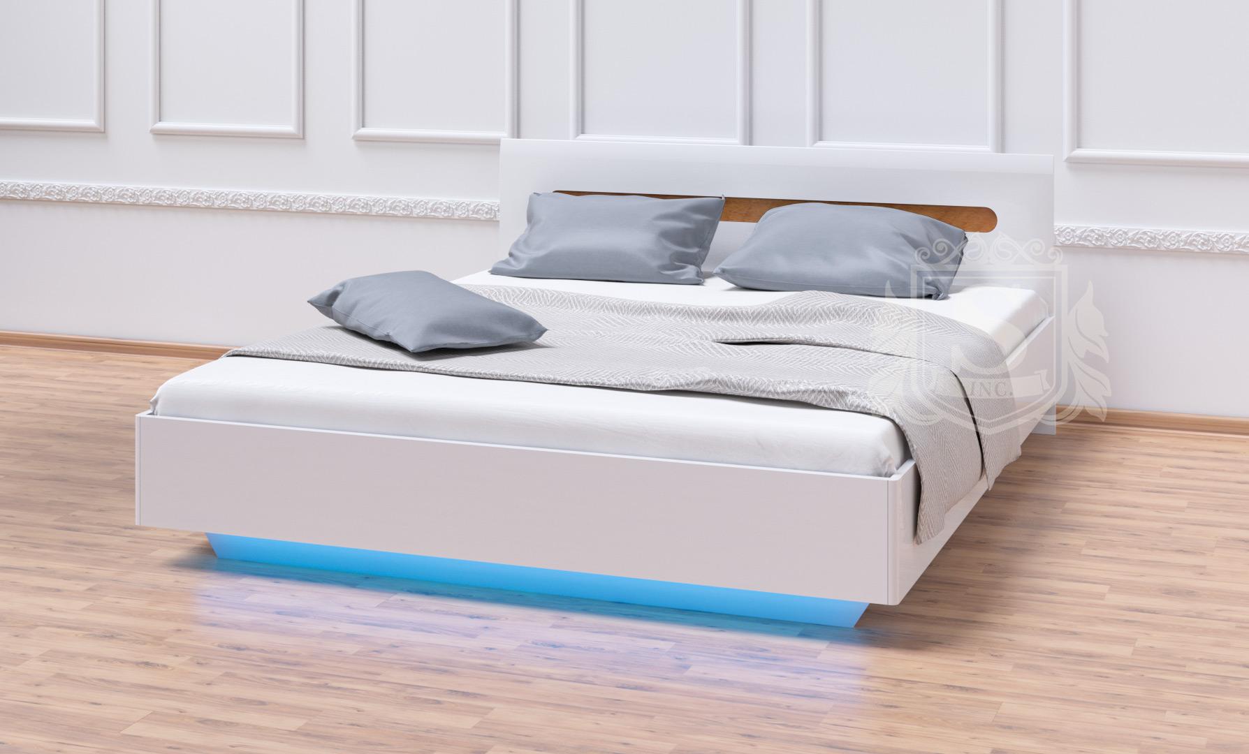 Кровать «Бьянко» 160*200 белый глянец