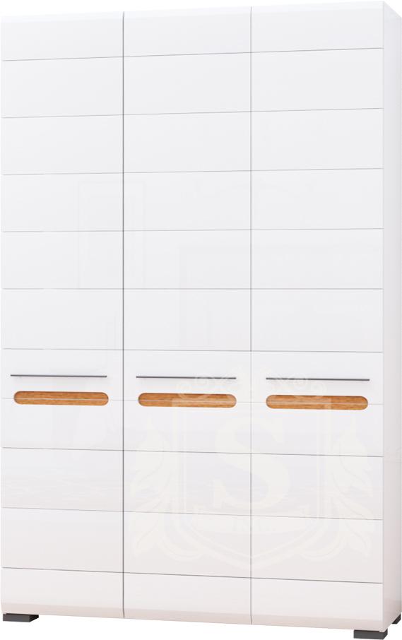 Шкаф 3Д «Бьянко» белый глянец | дуб сонома