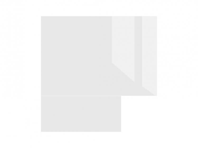Фото Стільниця кухонна кутова K400-SQ Світ Меблів • 28 мм • 87х87 • Білий - SOFINO.UA