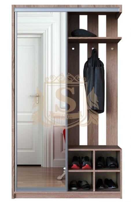 Фото Шкаф купе 1 дверь Альфа | Зеркало | Артикул: 299901 - SOFINO.UA