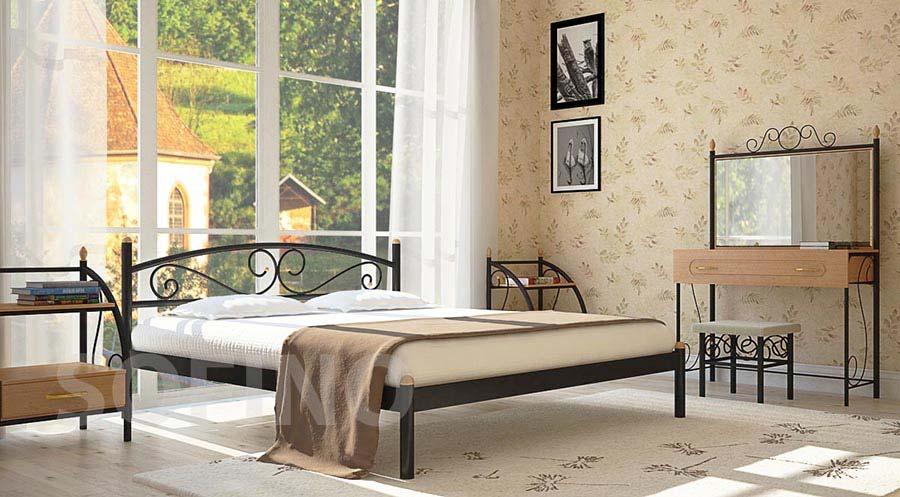 Фото Кровать «Вероника» 120*200 Металл - Дизайн - sofino.ua