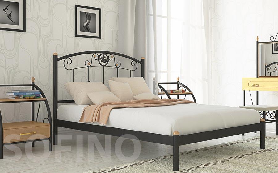 Фото Кровать «Монро» 80*200 Металл - Дизайн - sofino.ua