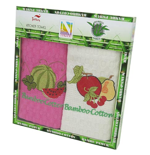 Фото Набор полотенец Nilteks Bamboo-Cotton Fruits 4 2х40*60 ОДП - sofino.ua