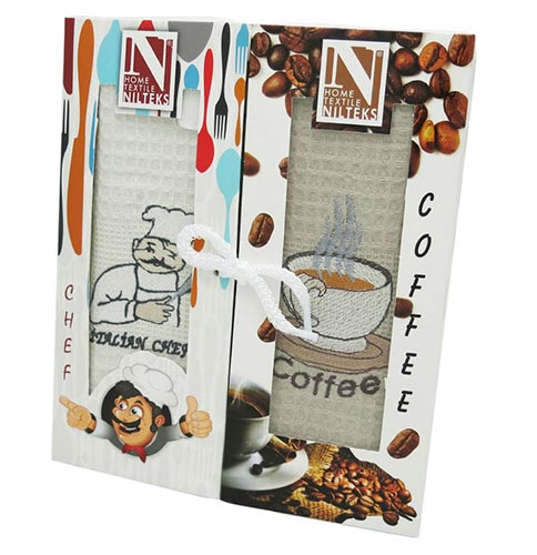 Фото Набор полотенец Nilteks Coffee Chef rp2 2х45*65 ОДП - sofino.ua