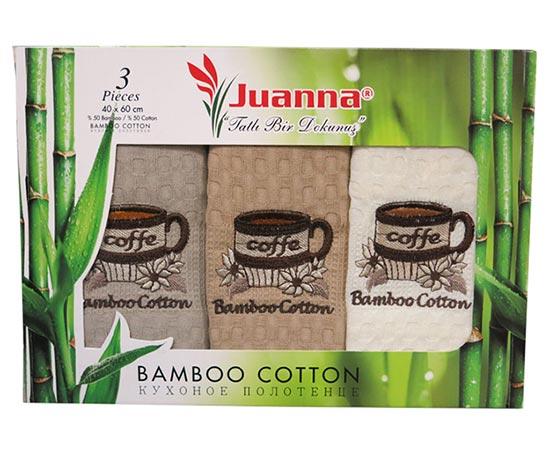 Фото Набор полотенец Juanna Bamboo-Cotton rp1 3х40*60 ОДП - sofino.ua