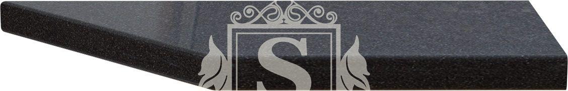 Столешница угловая к модулям 17/37/R «Керамика черная» (38 мм) | Правая