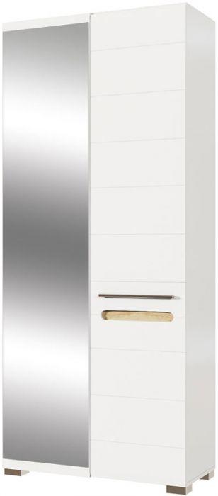 Шкаф 2ДЗ «Бьянко» белый глянец | дуб сонома