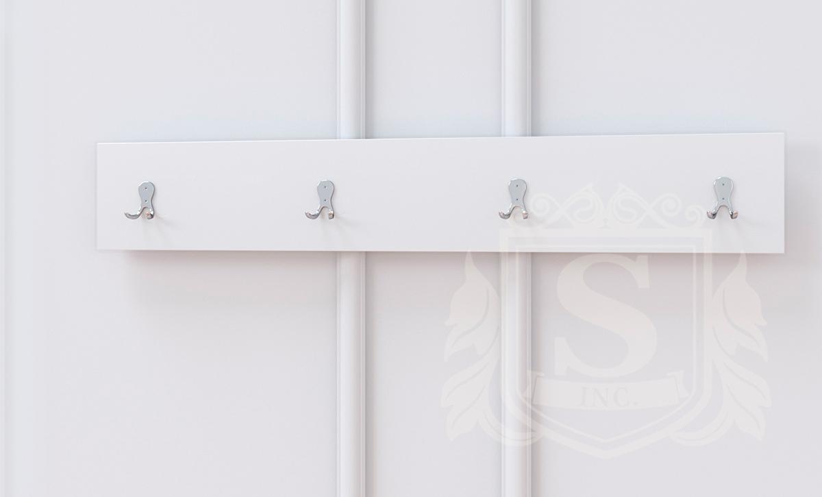 Фото Вішалка Б'янко Світ Меблів • 100х2х16 • Білий Розпродажна позиція - SOFINO.UA