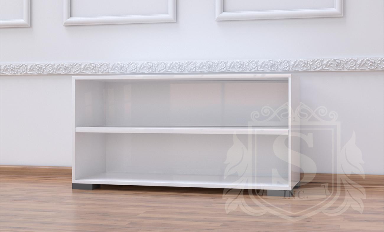Фото Тумба открытая «Бьянко» белый глянец - SOFINO.UA