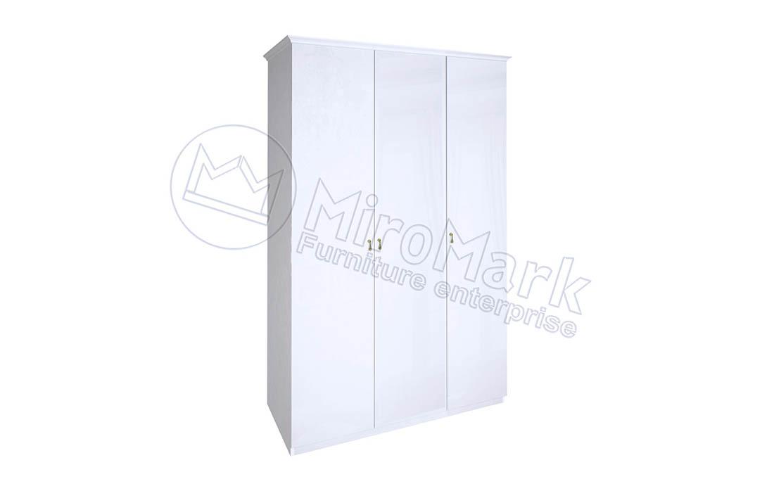 Шкаф 3д «Футура» без зеркала | Глянец белый
