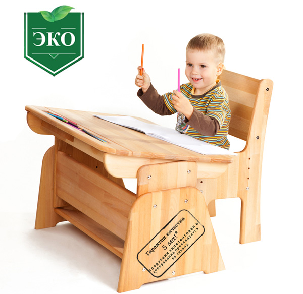 Фото Парта с пеналом «С-890» Абсолют мебель - sofino.ua