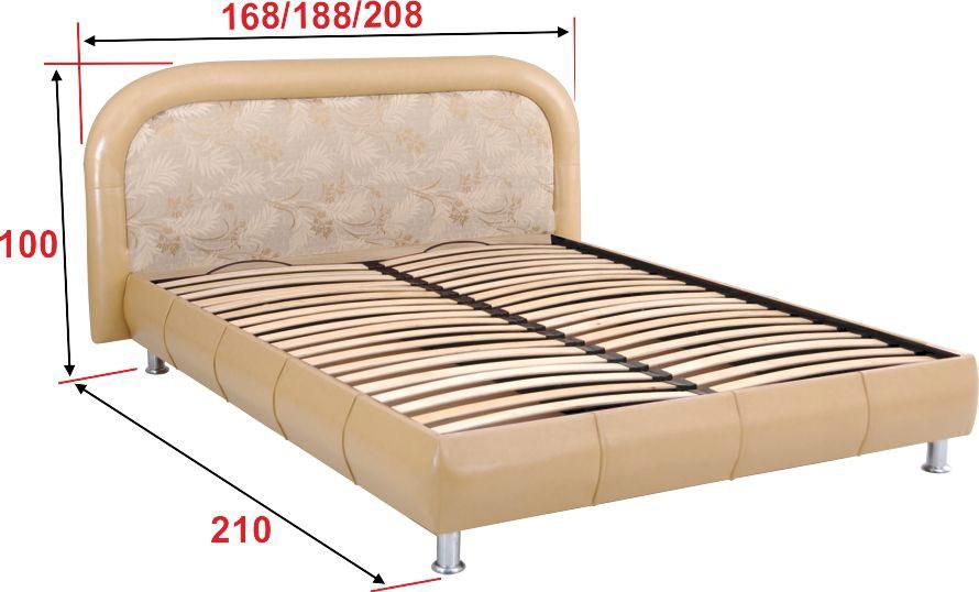 Фото Кровать-подиум с ортопедическим основанием «Фантазия» 140*200 Аліс Меблі - sofino.ua