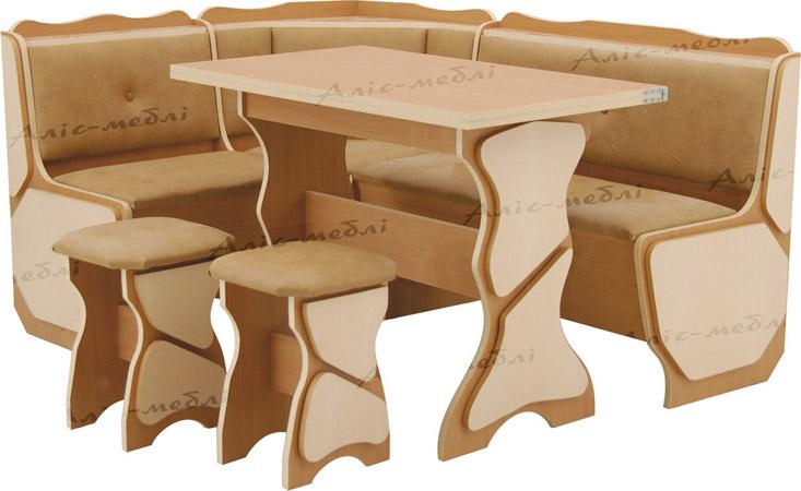 Фото Кухонный уголок «Орфей + стол глух.+ 2Т» Аліс Меблі - sofino.ua