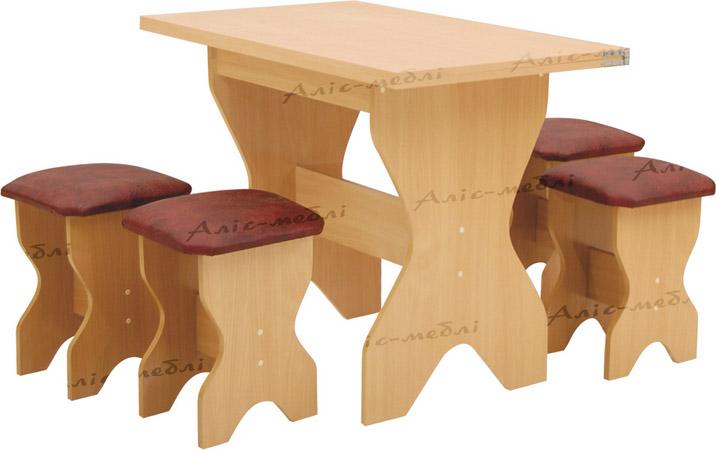 Фото Кухонный комплект «Милан стол глухой» Аліс Меблі - sofino.ua
