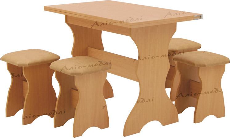 Фото Кухонный комплект «Афина стол глухой» Аліс Меблі - sofino.ua