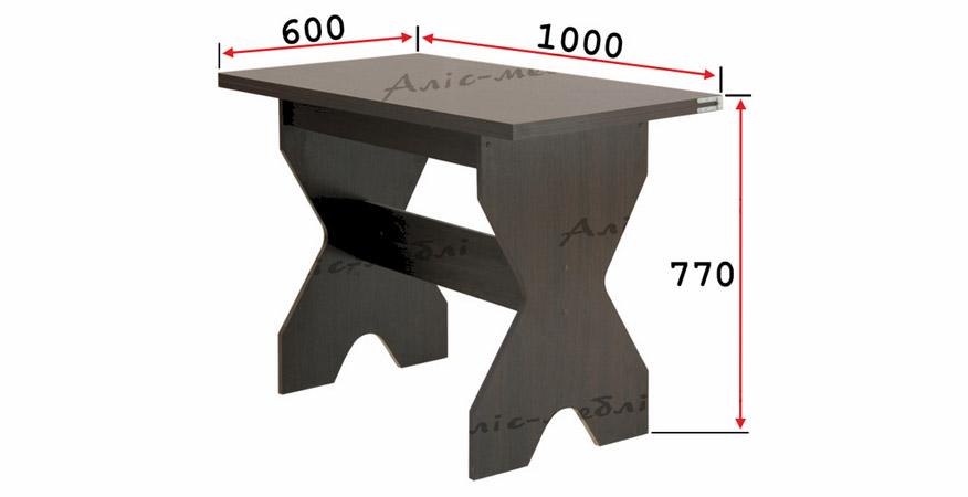 Фото Кухонный комплект «Титан стол глухой» Аліс Меблі - sofino.ua