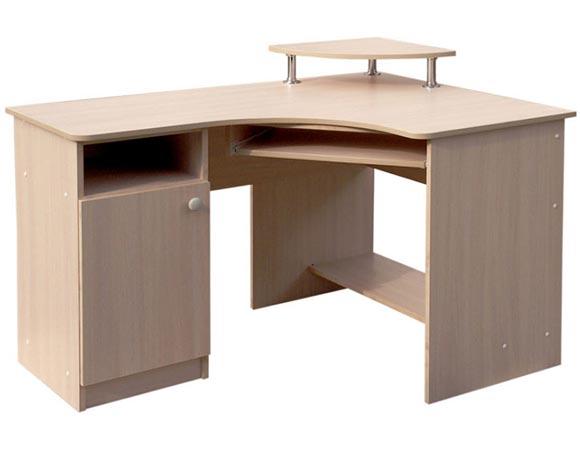 Фото Компьютерный стол «Эстет СКУ» одно-тумбовый ММ Макси-Мебель - sofino.ua