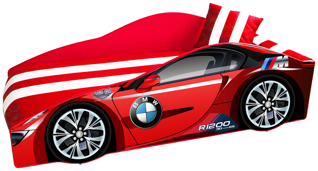 Фото Ліжко дитяче «Еліт Е-1 | BMW Red» 70*150 Розпродажна позиція - SOFINO.UA