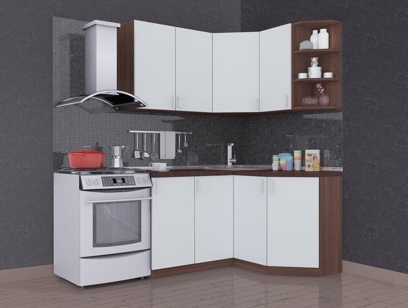 Комплект угловой кухни «Мода-8» 190 | без доводчиков