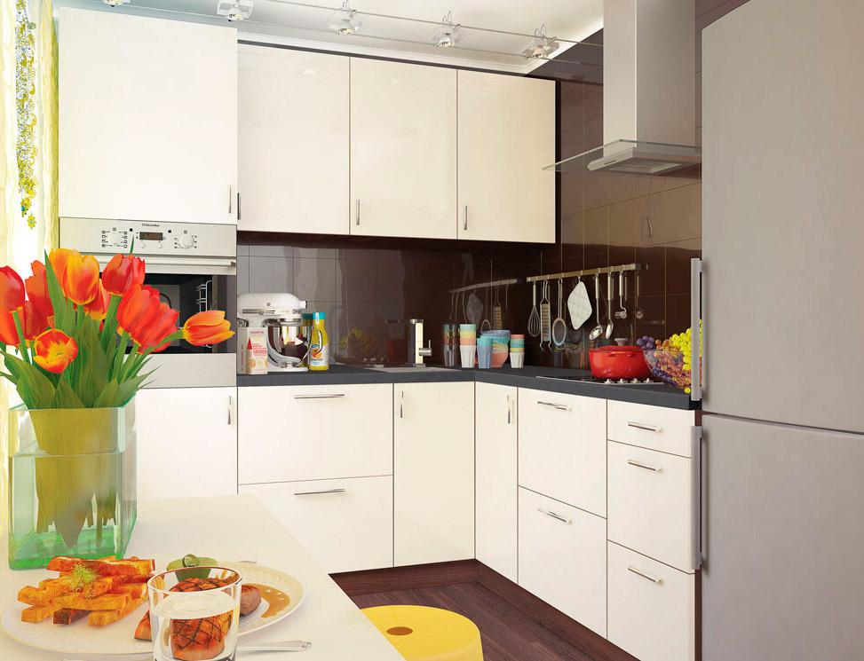 Фото Кухня кутова Віп Мастер Мода глянцева (МДФ Перлина) 210х190 см Розпродажна позиція - SOFINO.UA