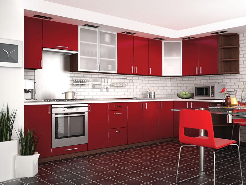Комплект угловой кухни «Мода-27» 360 | без доводчиков