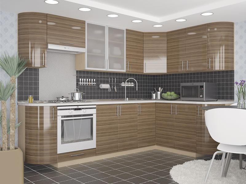 Комплект угловой кухни «Мода-42» 260 | без доводчиков
