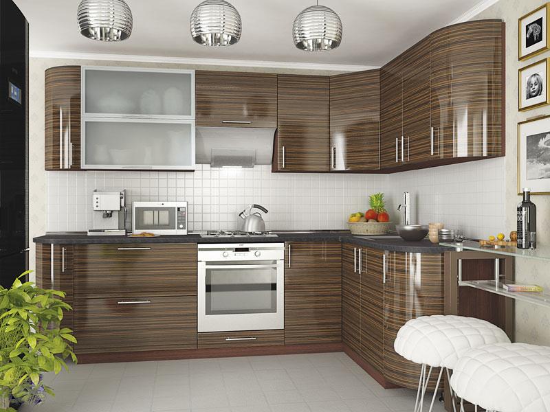 Комплект угловой кухни «Мода-45» 260 | без доводчиков