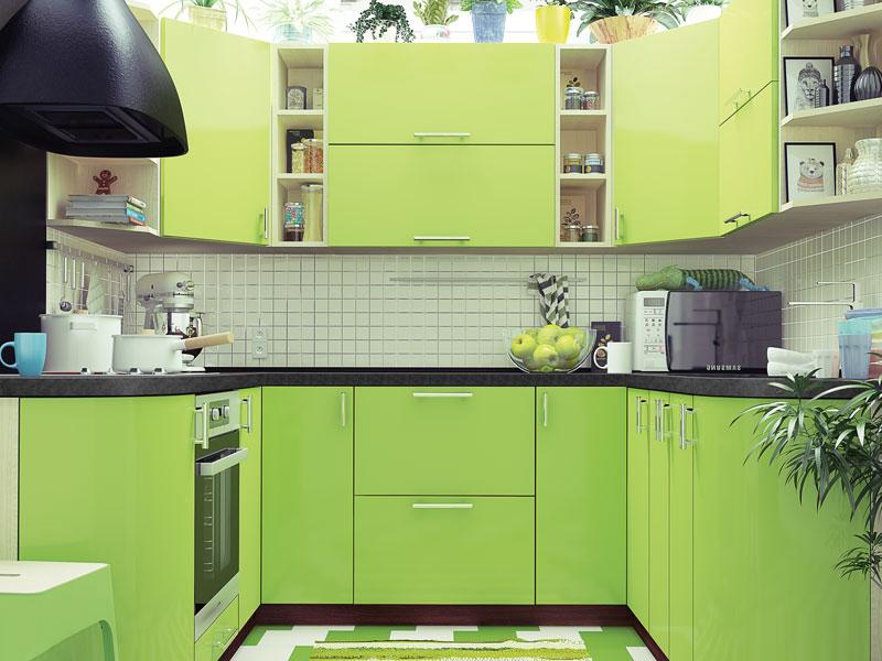 Комплект угловой кухни «Мода-55» 200 | без доводчиков