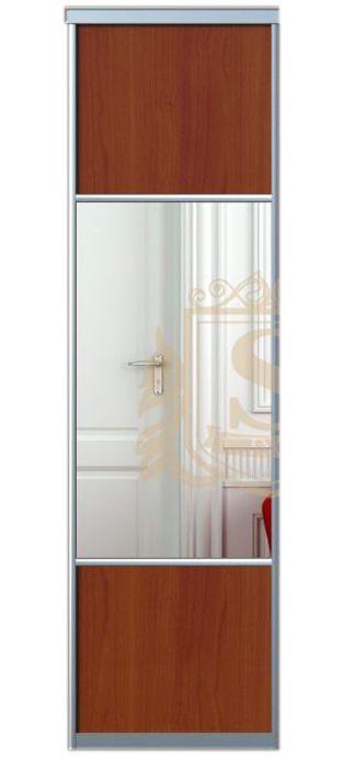 Дверь для шкафа | ДСП/Зеркало | 590*2200, профиль Alligator